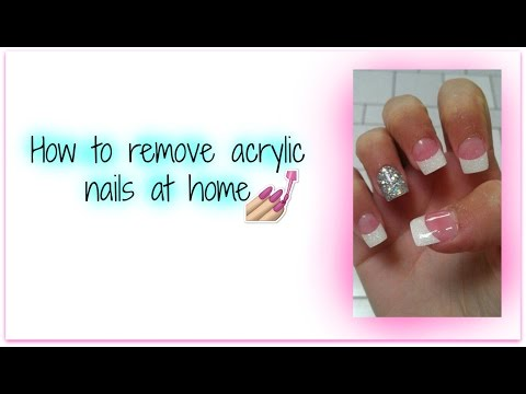 How to remove acrylic nails at home DIY
