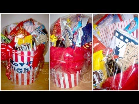 Christmas Gift Idea On a Budget - Movies Night Bucket
