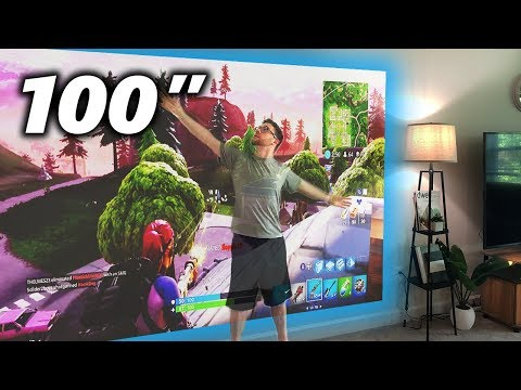 """Gaming at 100"""" is Pretty Awesome! LG Portable 1080p Projector!"""