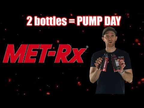 2 bottles = Pump Day | Met Rx Pumped pre workout supplement review