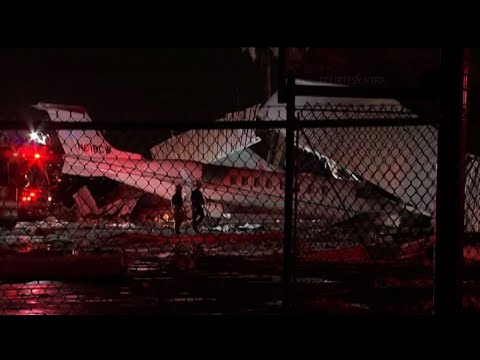Wind Causes Hangar Collapse at Houston Airport