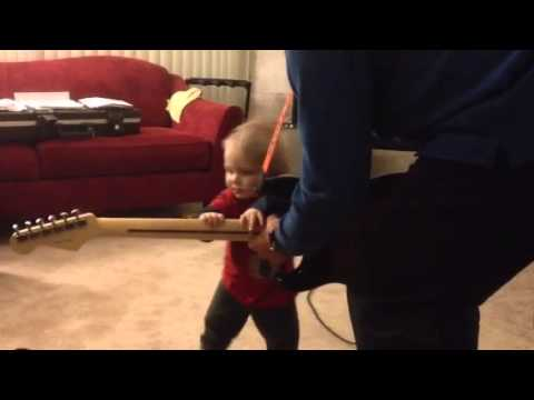 Fender Stratocaster Helping a Toddler Learn to Walk