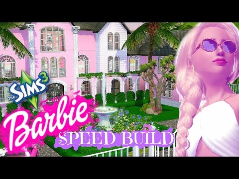 THE SIMS 3 BARBIE MANSION SPEED BUILD