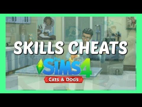 The Sims 4 Cats and Dogs - Vet Skill and Pet Training Skill Cheats - How To (Tutorial)