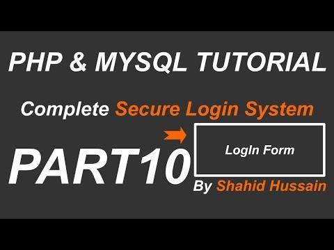 PHP & MYSQL | Complete Secure Login System | LogIn Form | Part 10
