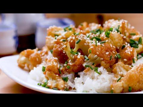 Kung Pao Cauliflower Bites