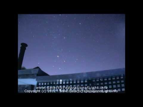 6 Galactic Federation ships over Perth Australia Before 21st Dec 2012 (Night vision)