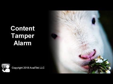 Content Tamper Alarm