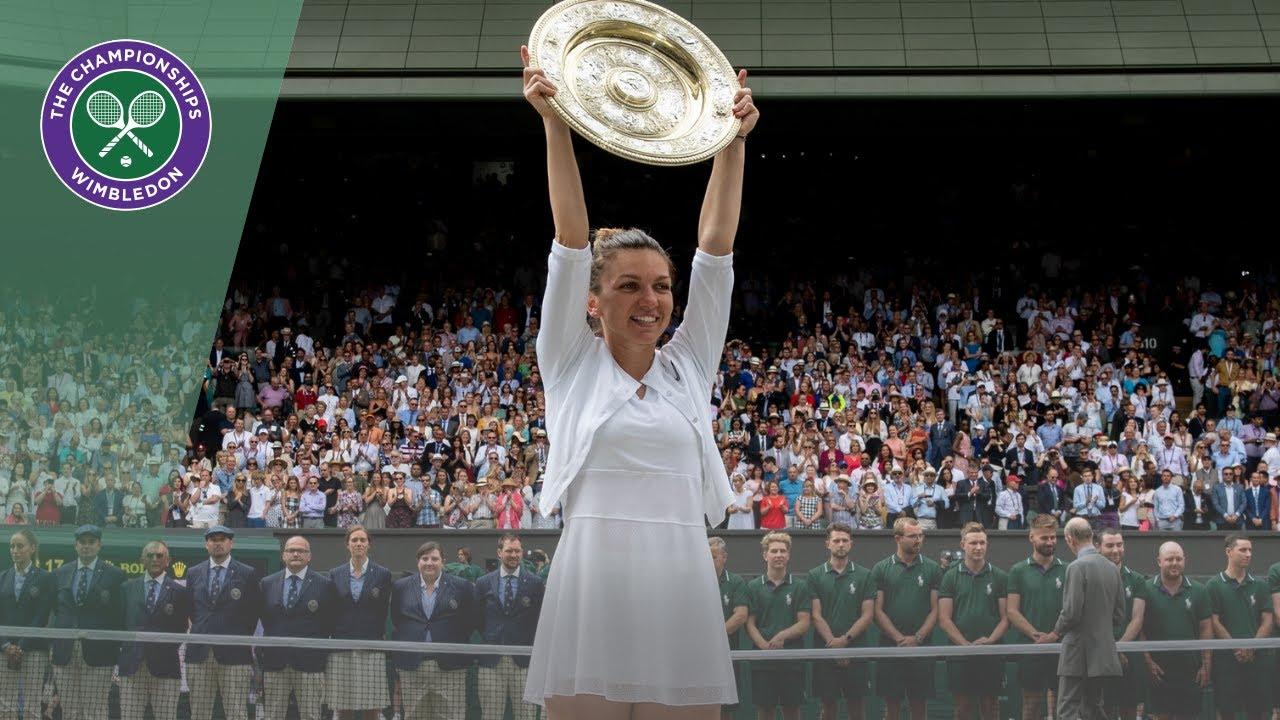 Wimbledon 2019 ladies' singles trophy presentation