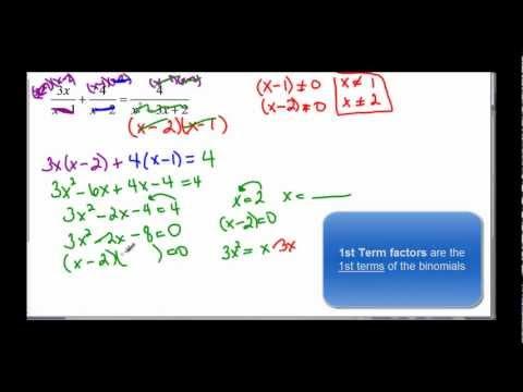 110-44  Rational Equations