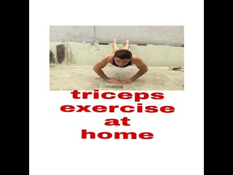 Triceps exercise at home