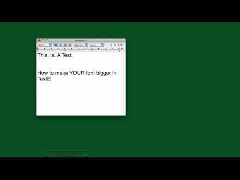 Change TextEdit Font Size