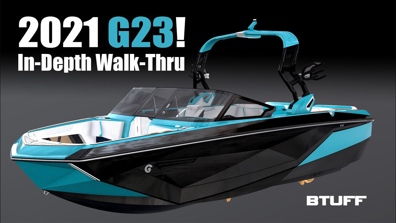 In-depth look at the new 2021 G23 Super Nautique wakesurf boat.