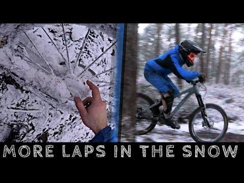 MORE LAPS IN THE SNOW! - ENDURO / DOWNHILL -subtitled-