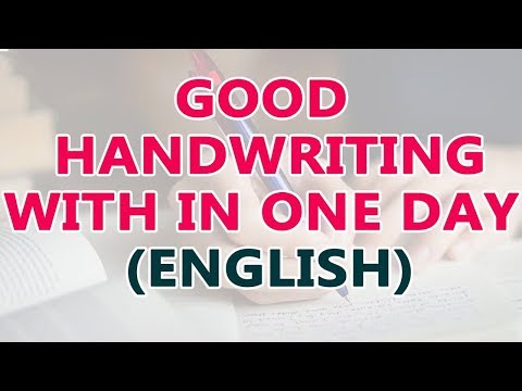 Good Handwriting with In One Day | How to Improve Handwriting | Easy Ways to Improve Handwriting |