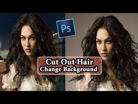How to Cut Out Hair in Photoshop & Change Background - Bangla Tutorial