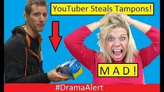 YouTuber Steals TAMPONS! (Women TRIGGERED!) #DramaAlert Logan Paul,  Biggest Cheater in Gaming!