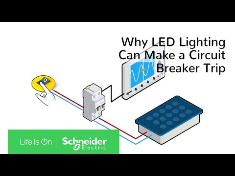 Why LED lighting can make a circuit breaker trip