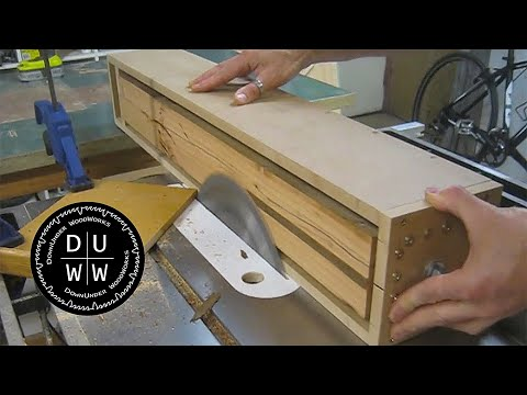 Flatten timber with your table saw. Homemade table saw sawmill jig.