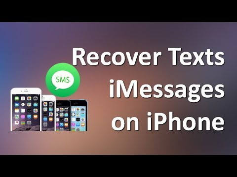 How to Recover Deleted SMS/Texts/iMessages on iPhone X, 8, 7, 6s (Plus))