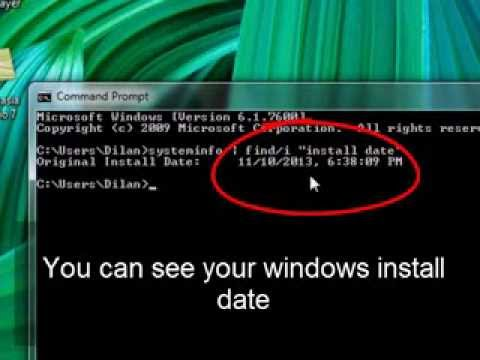 How to check windows install date