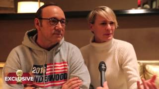 """Visiting with the Underwoods from """"House of Cards"""": HFPA Exclusive"""