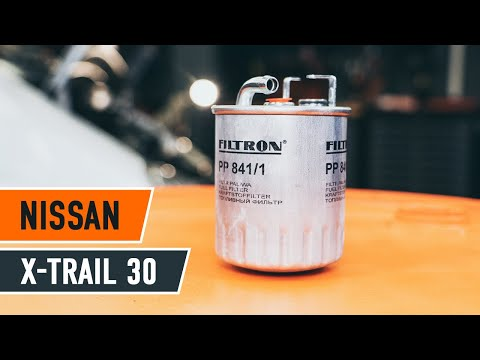 How to replace fuel filter NISSAN X-TRAIL T30 TUTORIAL | AUTODOC