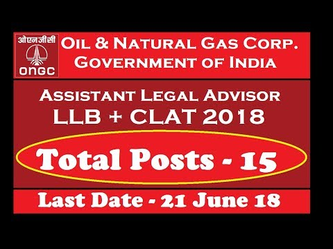 ONGC Recruitment 2018 for LLB | Salary 1,80,000 Per Month | Apply Online Now