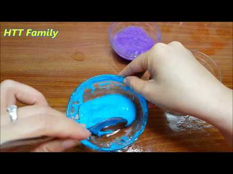 How To Make Slime hair gel  and Water and Salt Only Without Borax, Liquid Starch DIY slime