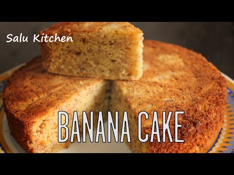 How to make Banana Cake in Pressure Cooker (with English Subtitle)