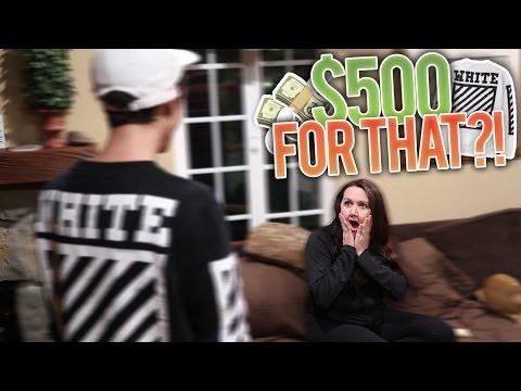 Mom Reacts to Buying $500 OFF WHITE Sweatshirt!!