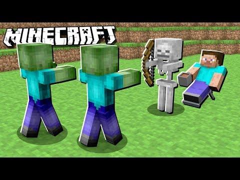 Make MOBS BATTLE EACH OTHER in Minecraft!