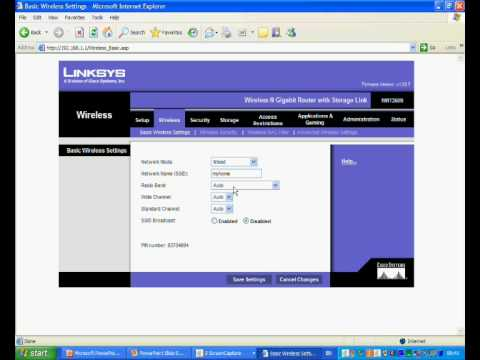 Setting up wireless secuirty on a Linksys WRT350N Router