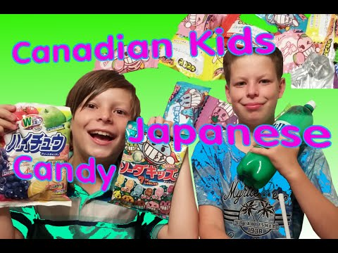 Canadian Kids Try Japanese/ hi chews/ hard candy/ Milkis Yogurt and Milk drink