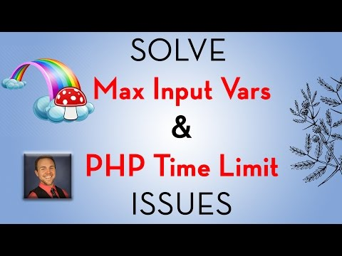 Increase max input vars with GoDaddy Cpanel & Avada Theme