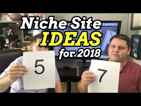 10 Niche Site Ideas for 2018