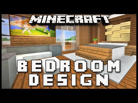 Minecraft: How To Make A Master Bedroom Design  (Modern House Build Ep. 16)