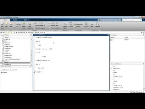 MATLAB 8.1 - Factorials, Square Roots, and Nth Roots