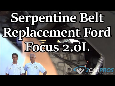 HOW TO REPLACE A SERPENTINE BELT !! Ford Focus 2.0L 2005-2007