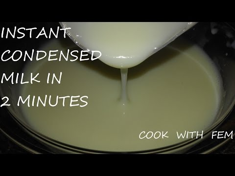 How To Make Condensed Milk At Home In 2 minutes/Homemade Tasty Condensed Milk Made Easy & Quickly