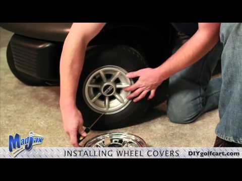 Golf Cart Wheel Covers | How to Install Video | Installing Golf Cart SS Hub Caps - Wheel Cover
