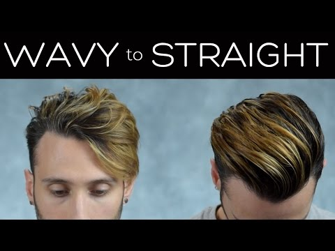 Curly/Wavy to Straight | Hair Styling Tutorial | Men's Hair 2017