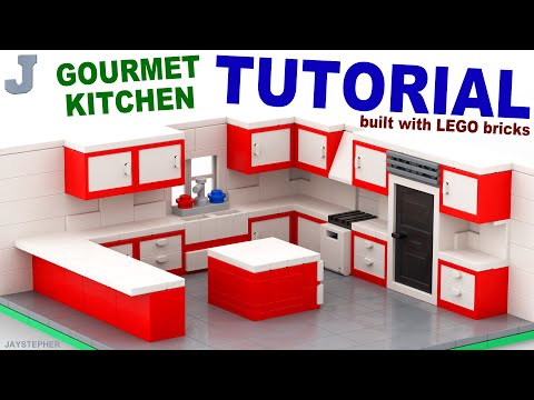 How to Build a LEGO Gourmet Kitchen TUTORIAL Building Technique