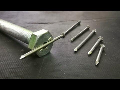 simple idea with bolt & iron nail