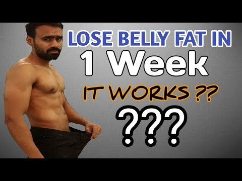 How to Lose Belly Fat in 1 Week? Fast Way to Lose Fat