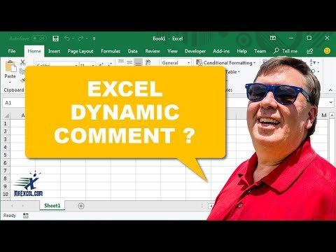 MrExcel's Learn Excel #855 - Dynamic Comment?