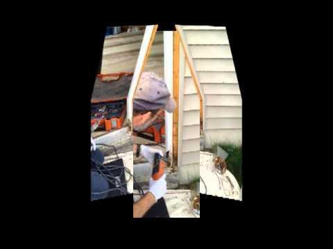 Repairing a rotten exterior door frame