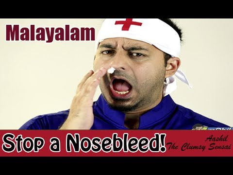 How to Treat a Bleeding Nose - Malayalam