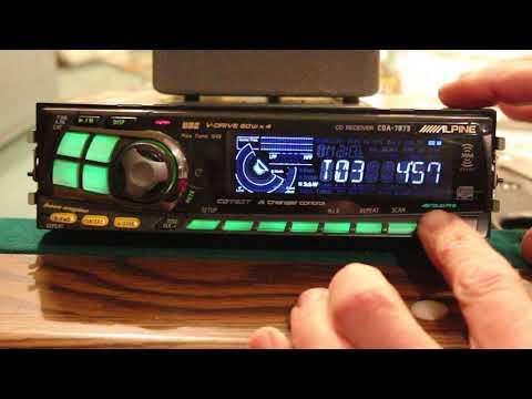 Alpine CD Receiver CDA-7873 Deck Headunit Overview