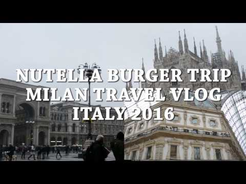 FLYING TO ITALY FOR THE NUTELLA BURGER! MILAN TRAVEL VLOG
